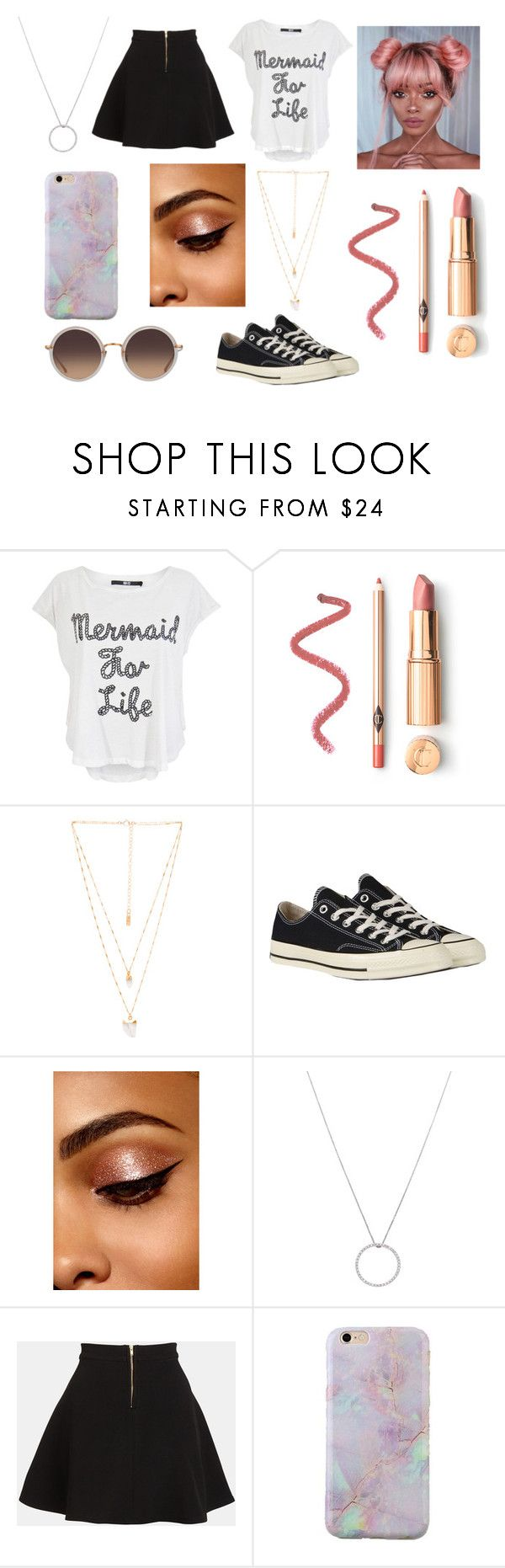 """""""Mermaids Do It Better"""" by x-emily-herondale-x ❤ liked on Polyvore featuring Iron Fist, Natalie B, Converse, Roberto Coin, Parker and Linda Farrow"""
