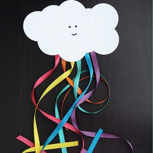 Smiling Cloud and Rainbow Craft