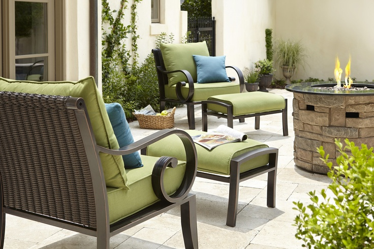 Make yourself at home on this allen + roth patio set.
