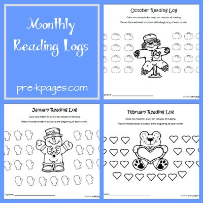 monthly reading logs for home parent letter journal free printable kindergarten reading logs 1000 ideas 884
