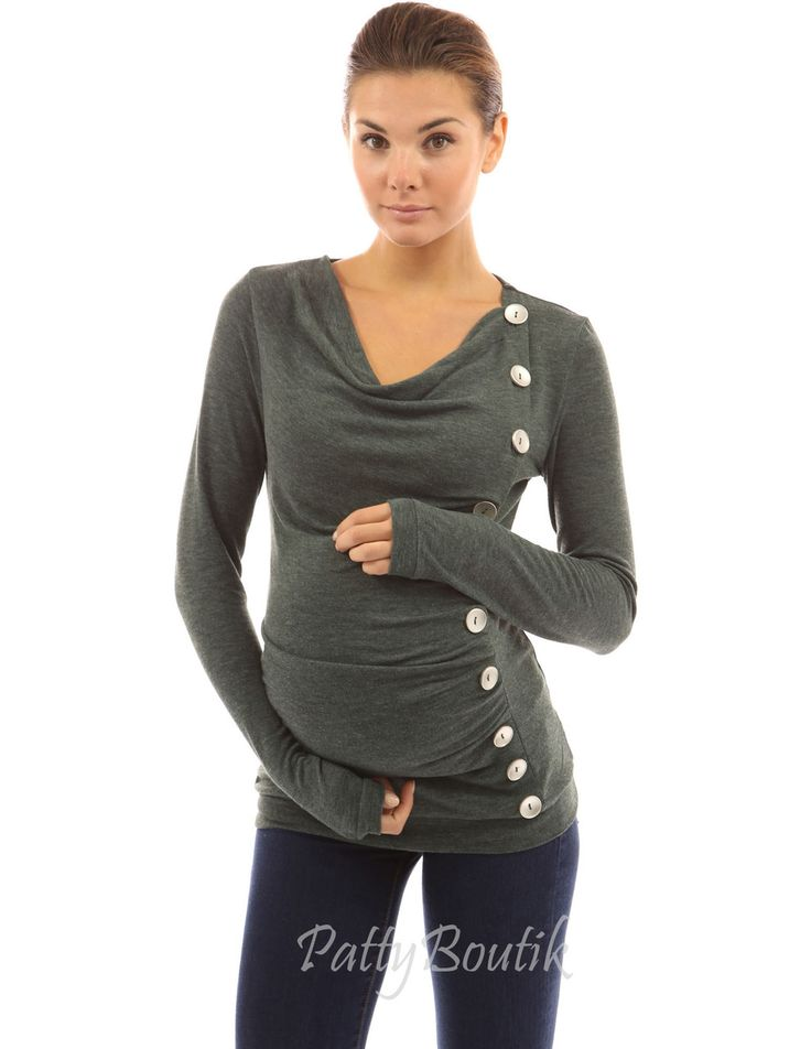 Mama Cowl Neck Buttons Maternity Tunic Top - PattyBoutik repin & like. Check out Noelito Flow music. Noel. Thanks https://www.twitter.com/noelitoflow  https://www.youtube.com/user/Noelitoflow