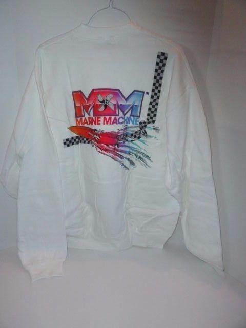 Marine Machine Sweat Shirt With Power Boat