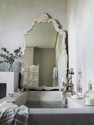 Wonderful Sink and Side MirrorBathroom Mirrors, Bathroom Design, Vintage Mirrors, Modern Bathroom, Interiors Design, Bathroomdesign, Designbathroom, Design Bathroom, Mirrors Mirrors