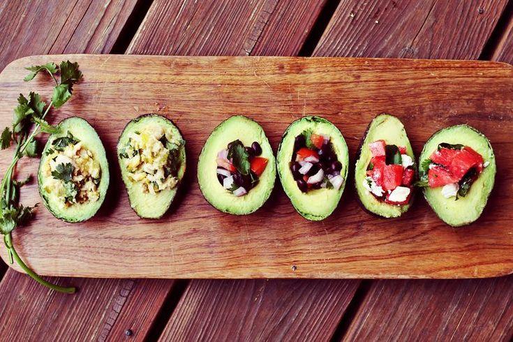 Avocado Salad 3 Ways by abeautifulmess #Salad #Avocado #abeautirulmess