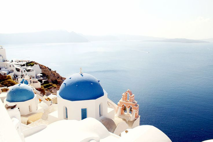 Oia, Santorini, Greece, blue dome, white church, beautiful house, caldera view, cycladic architecture, holiday deatinations, must see places,
