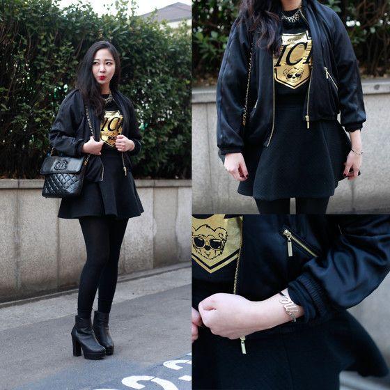 Chanel Bag, Joyrich Top, H&M Outer, Monday Edition Acc