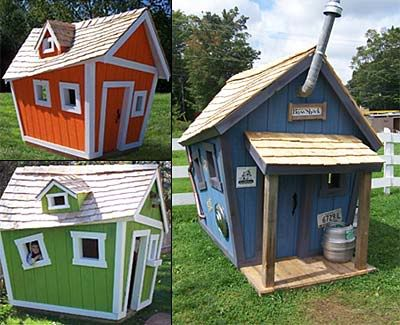 Building a crooked playhouse looking for 39 crooked for Backyard clubhouse plans