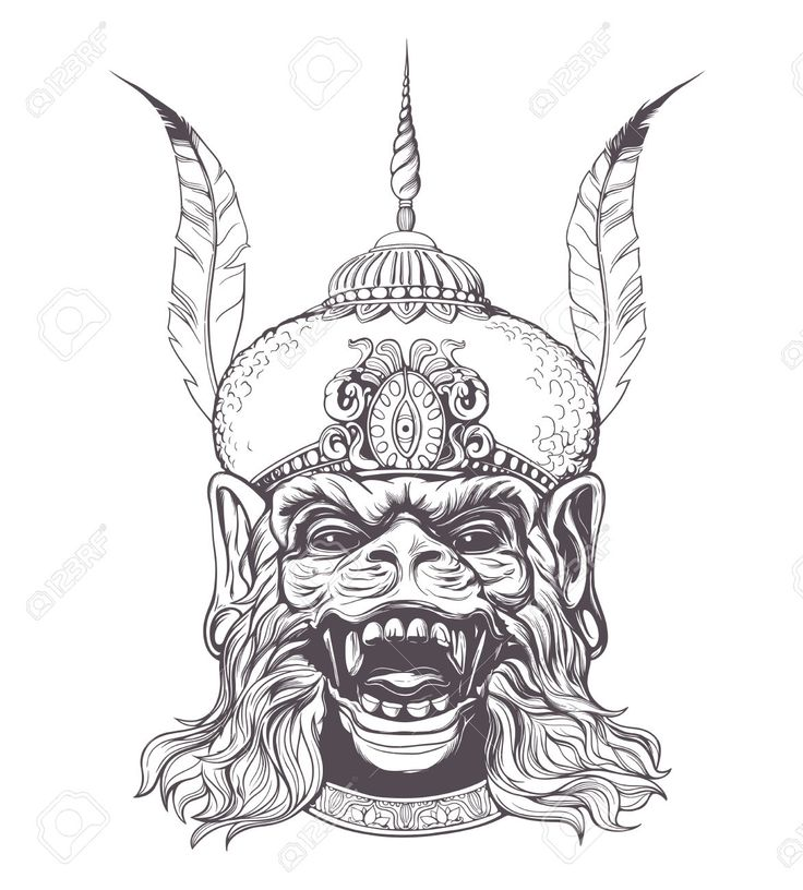 hanuman thai drawing - Google Search