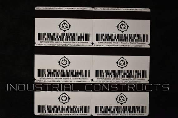 Scp Foundation Secure Access Id Cards Secret Laboratory Version Scp Foundation Magnetic Stripe
