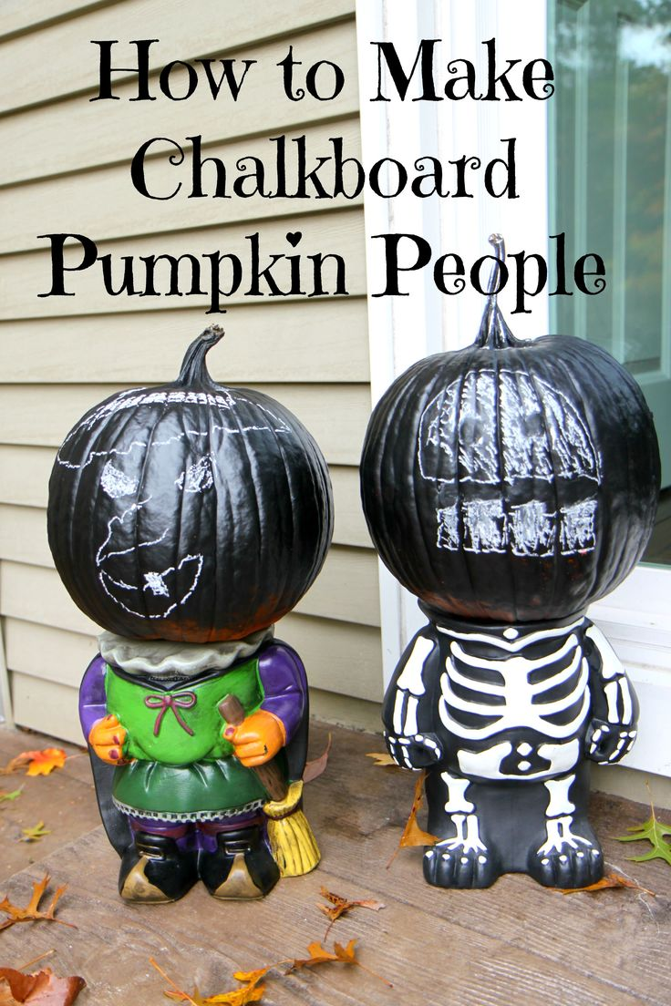 How to Make Chalkboard Pumpkins from MomAdvice.com.