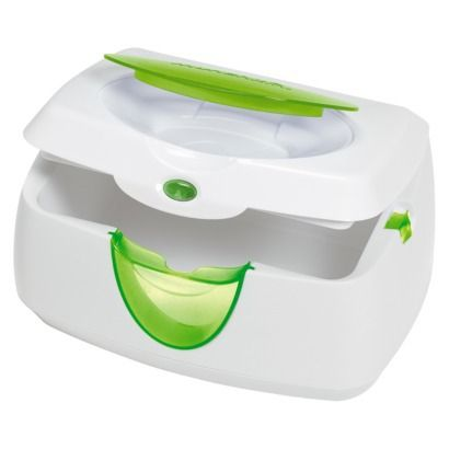 Munchkin Warm Glow Baby Wipe Warmer Not everyone is on board with the warmers. They are definitely more of a luxury than a necessity. But when you have to change a baby and would like them to sleep rather than get a rude awakening from a cold wipe it makes a big difference.