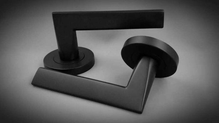 Idun matte black lever handle