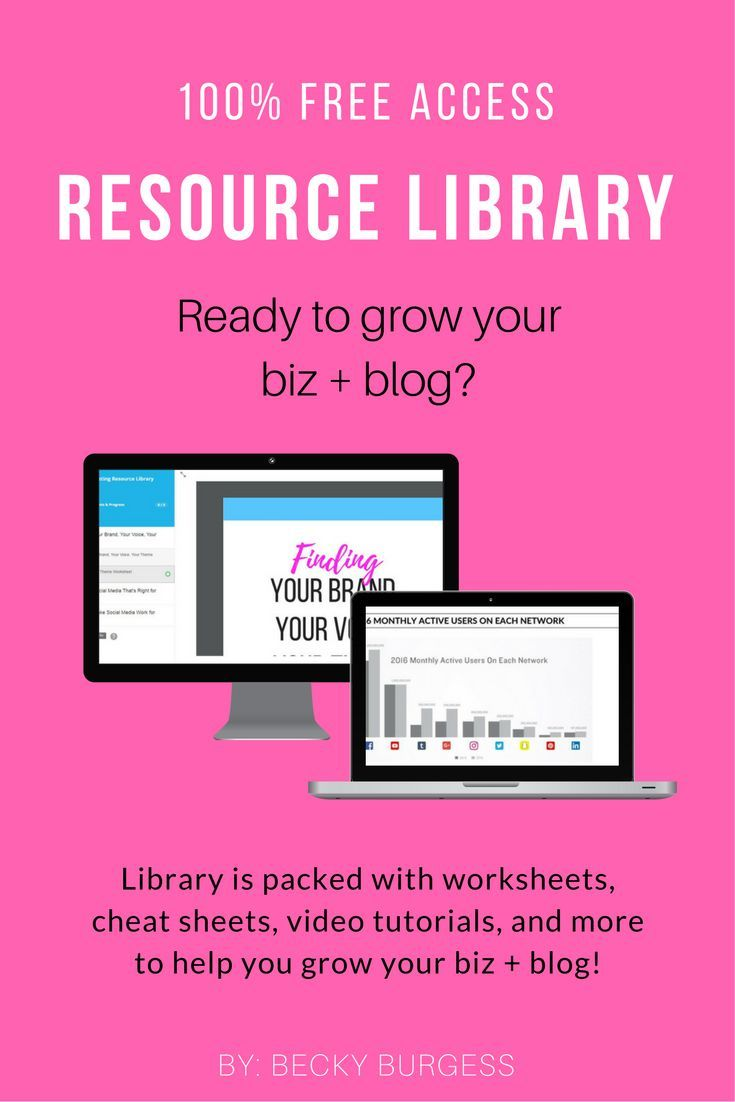 Marketing Resource Library is here to help you grow your business and your blog through social media.