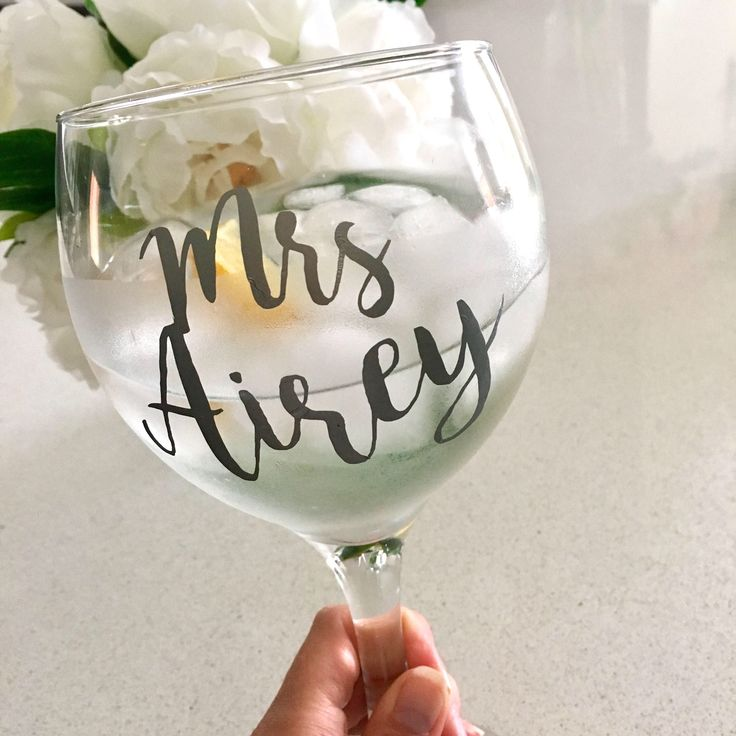 A personal favourite from my Etsy shop https://www.etsy.com/uk/listing/549972397/personalised-gin-goblet-named-gin-glass