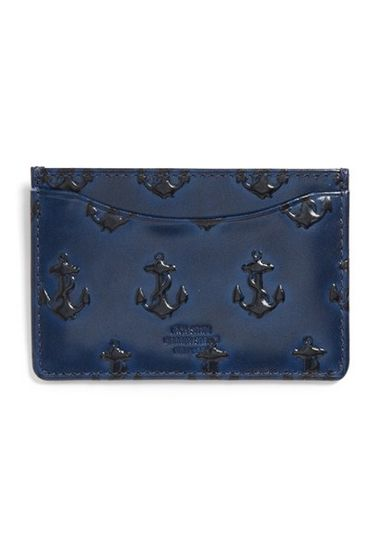 Jack Spade Anchor Leather Card Wallet #giftsforhim