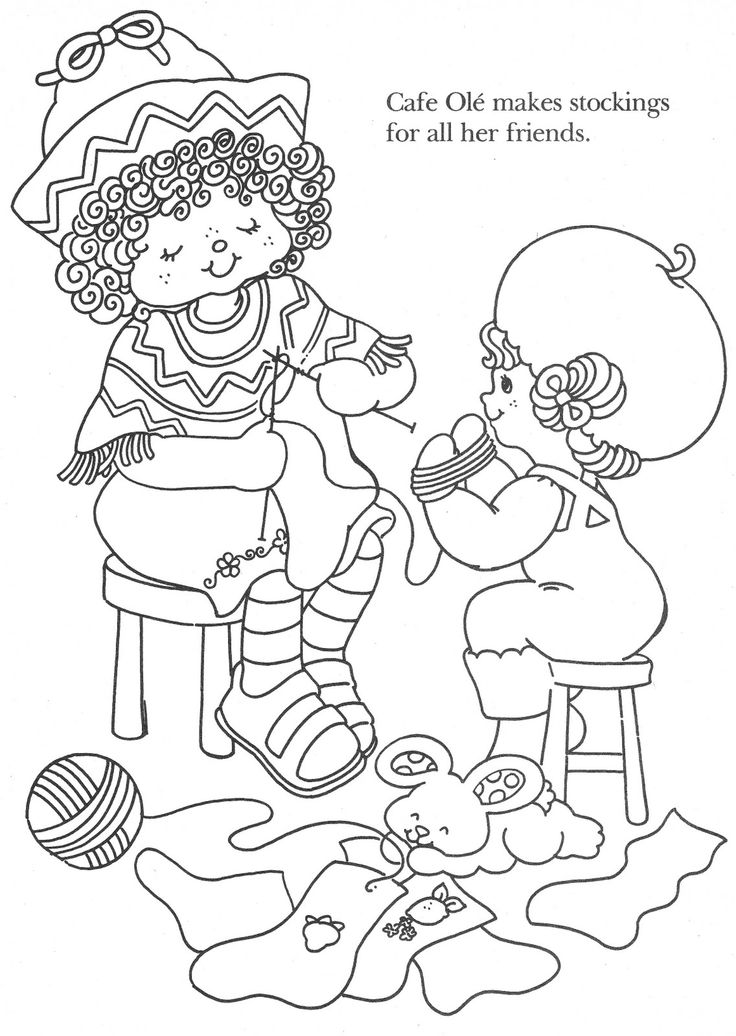 Vintage kenner american greetings strawberry shortcake for Strawberry shortcake christmas coloring pages