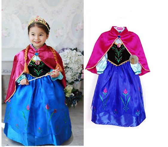princess anna costume frozen dress for children by gensupplies 2500 - Halloween Anna Costume