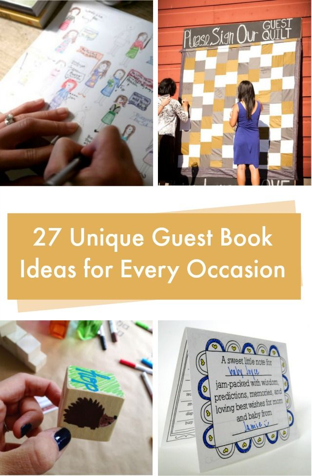 Unique guest book ideas for baby shower
