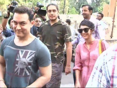 Aamir Khan with family came to cast their votes for Lok Sabha Elections.