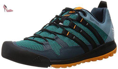 adidas Terrex Solo, Chaussures de Randonnée Basses Homme, Vert (Green/Core Black/Orange), 42 EU - Chaussures adidas (*Partner-Link)
