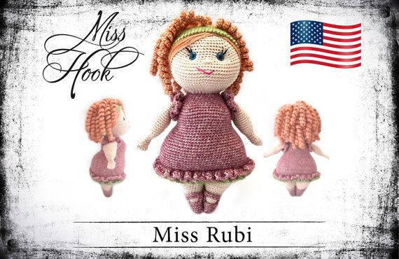 crochet doll pattern Miss Rubi eBook PDF by misshookcrochet