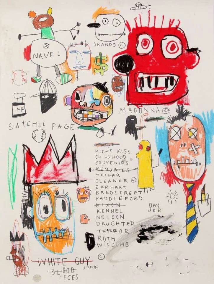Jean-Michel Basquiat- the signature was photoshopped out, next painting will the original painting