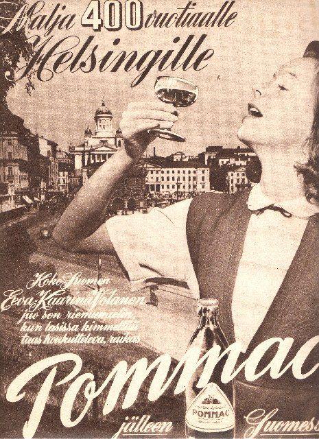 Pommac-mainos (Eeva-Kaarina Volanen)/1950