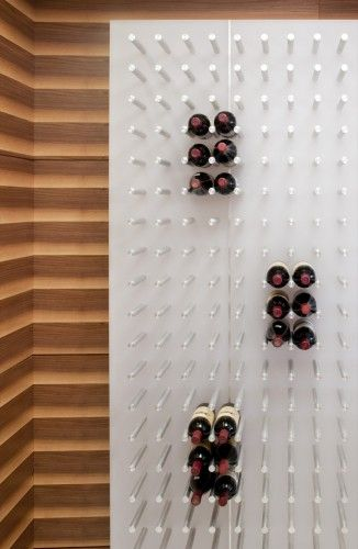 wine wall in a Watergate apartment in #D.C. by Robert Gurney Architect http://www.robertgurneyarchitect.com/