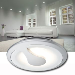 Spot led encastrable 5W 6VA 100° Blanc chaud 3000 K Chrome mat PAULMANN