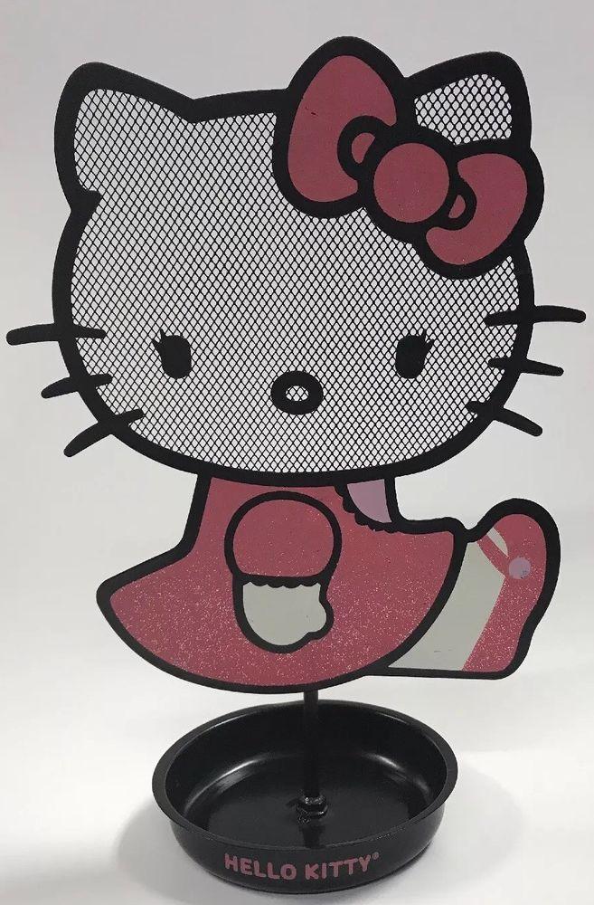 5a15c9faa Hello Kitty Earring Holder Girls Jewelry Tree Stand Pink Black Metal Sanrio  11