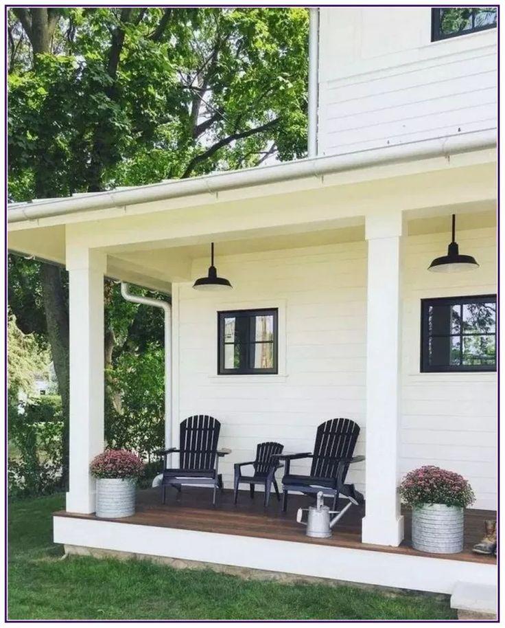 25 Modern Farmhouse Porch Decor Ideas * aux-pays-d…