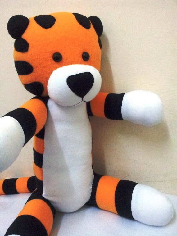 My Lovely HobbesCalvin and Hobbes made to order by YourMemory, $99.99: Awesome Plush, Plush Team, Calvin And Hobbes, Hobbes Fleece, Hobbes Calvin, Hobbes Stuffed Animal Jpg, Fleece Plush, Dolls Stuffed, Plush Dolls