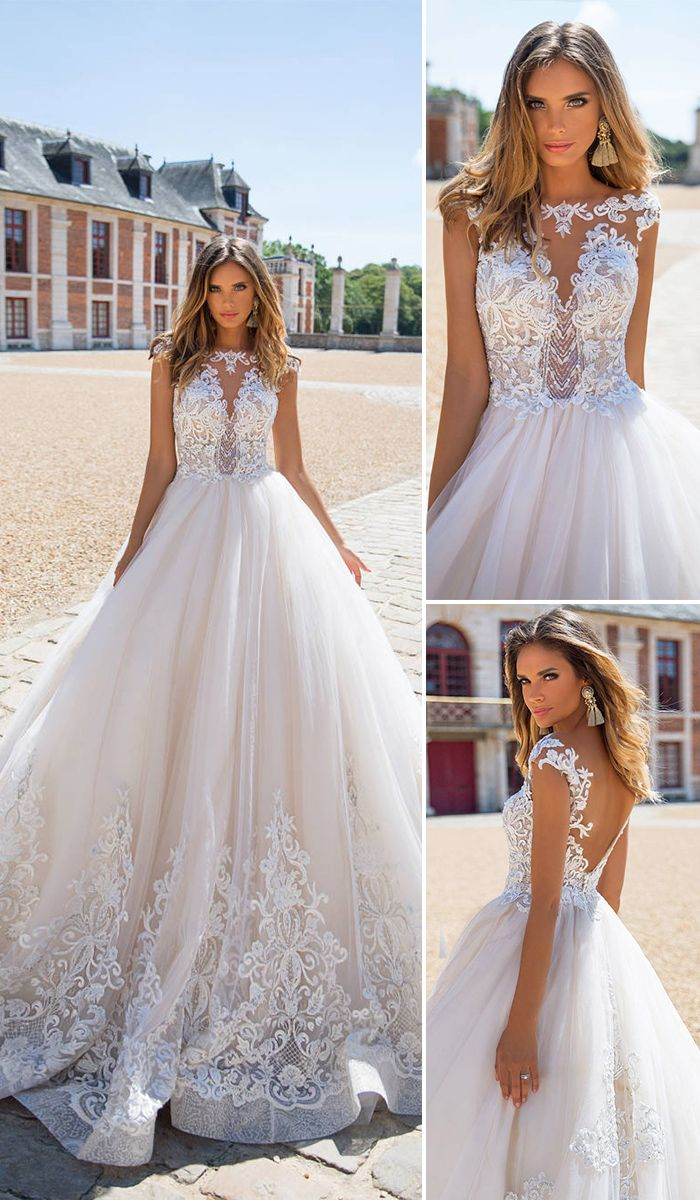 Milla Nova 2018 Wedding Dresses Collection ❤ Bridal dresses boast exquisite silhouettes, intricate lace and airy fabrics - all the renowned features of this bridal luxury brand. Amazing blush mermaid floral lace wedding dress. See more: http://www.weddingforward.com/milla-nova-2018-wedding-dresses/ #weddingforward #bride #wedding #weddingdresses