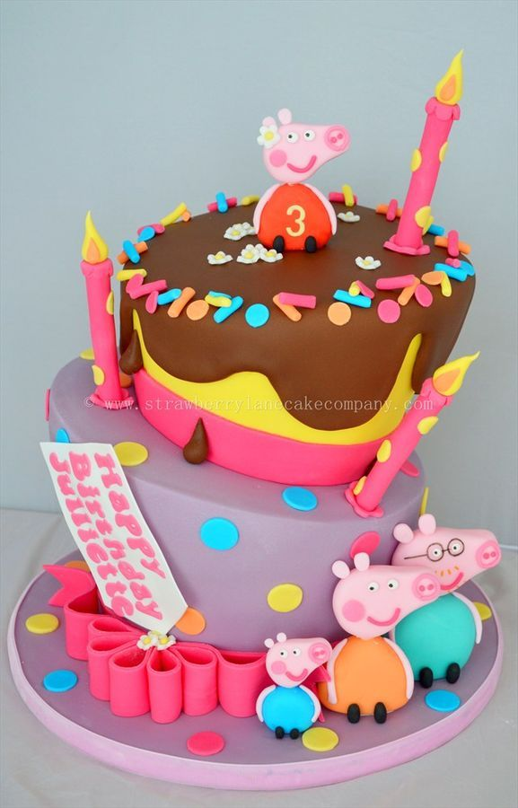 Best Peppa Pig Cakes Images On Pinterest Peppa Pig Cakes - Family birthday cake ideas