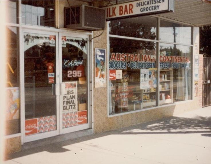 K & A Pappas, Australian & Continental Milk Bar Shopfront, Preston West, Melbourne victoria Australia early 1980s