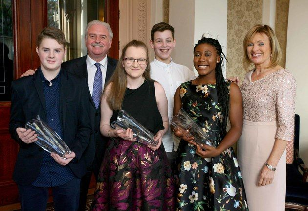 These wonderful teenagers were honoured today at the Irish Carers of the Year Awards #UK News TheJournal.ie