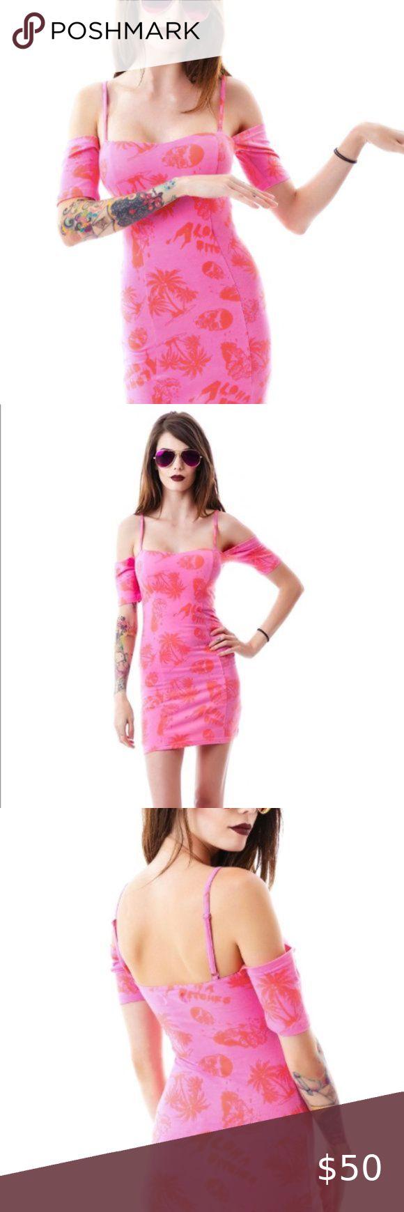 Iron Fist Aloha Bs Hawaiian Pink Casual Dress Casual