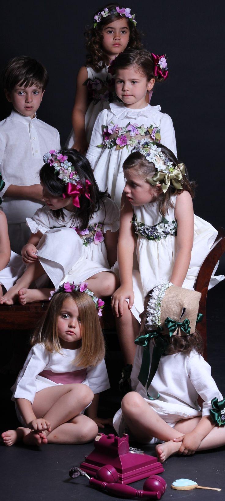 coronas florales para niños de arras y ceremonia....