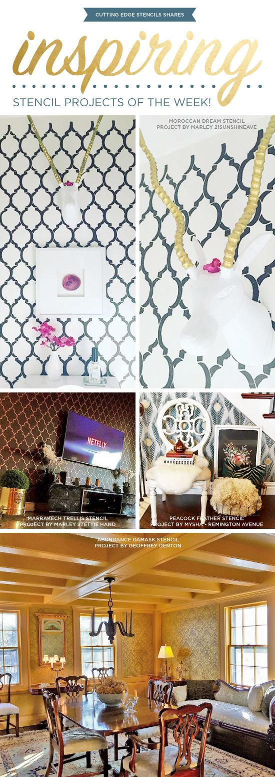 863 best from stencil stories images on pinterest wall cutting edge stencils shares diy stenciled room and accent wall ideas http amipublicfo Images