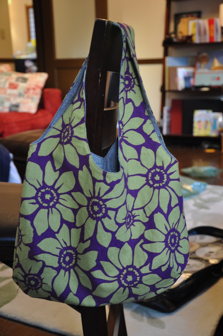 Reversible bag using free tutorial found at http://verypurpleperson.com/2010/04/making-reversible-bag.html