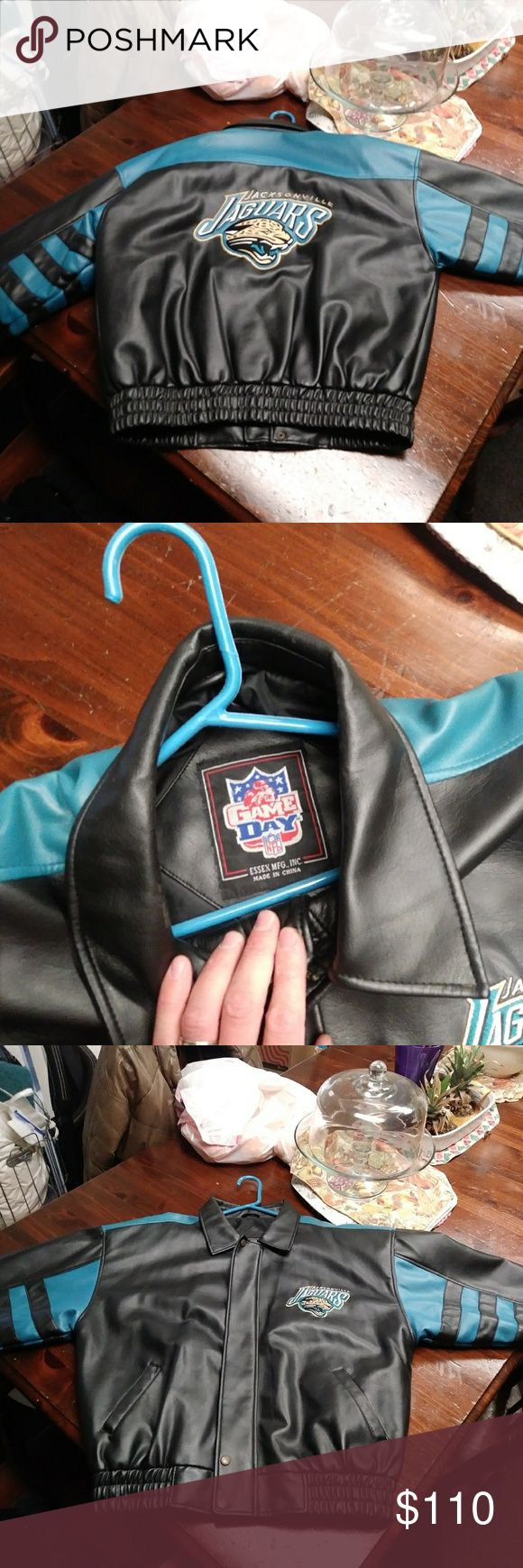 Jacket Leather(Jacksonville Jaguars Game Day) Almost new Jackets & Coats