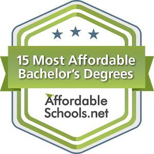 affordable schools rankings badge