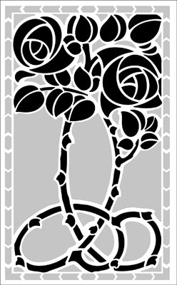 "Motif No 29 stencil from The Stencil Library ARTS AND CRAFTS range. Stencil code DE137. 16 x 9.5"" (406 x 241mm). £26.95."
