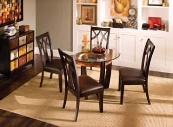 Raymour And Flanigan Elation 5 Pc 42 Quot Glass Dining Set