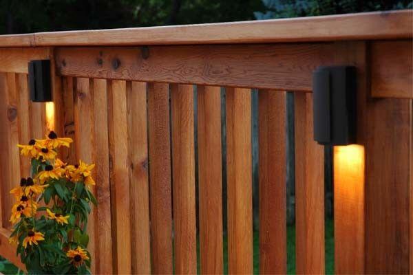 Deck Railing Lighting Altan Uteplats Pinterest