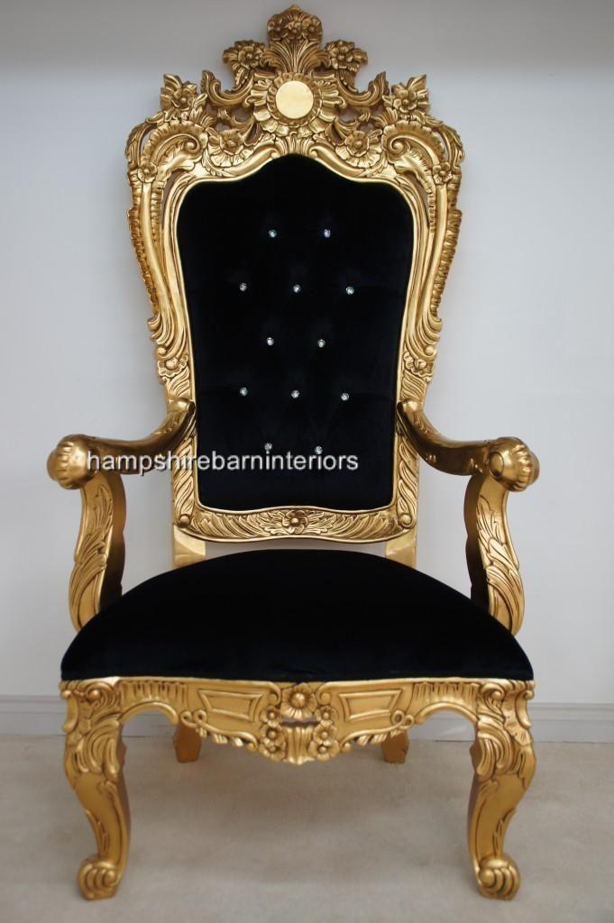 Hampshire Barn Interiors Furniture Throne Chair Chair