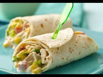 Hühnchen Fajita Salat Wraps