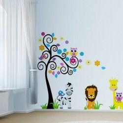 Safari life!  Zebror, lejon och giraffer, det kan inte bli bättre! Nu har du chans att dekorera barnrummet med detta fantastiska safari väggdekor. De snyggt kombinerade färgerna tillsammans med motiven ger rummet en unik look.  #Homedecoration #art #interior #design #Walldecor #väggdekor #interiordesign #Vardagsrum #Kontor #Modernt #vägg #inredning #inredningstips #heminredning #safari #natur #lejon #zebra #djur #barn #barnrum #barninredning