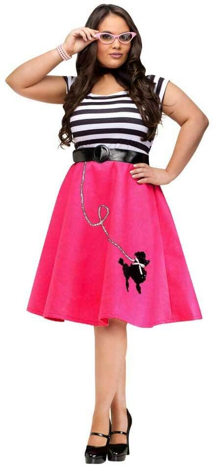 Plus Size Adult Fuchsia Poodle Dress Costume - Candy Apple Costumes
