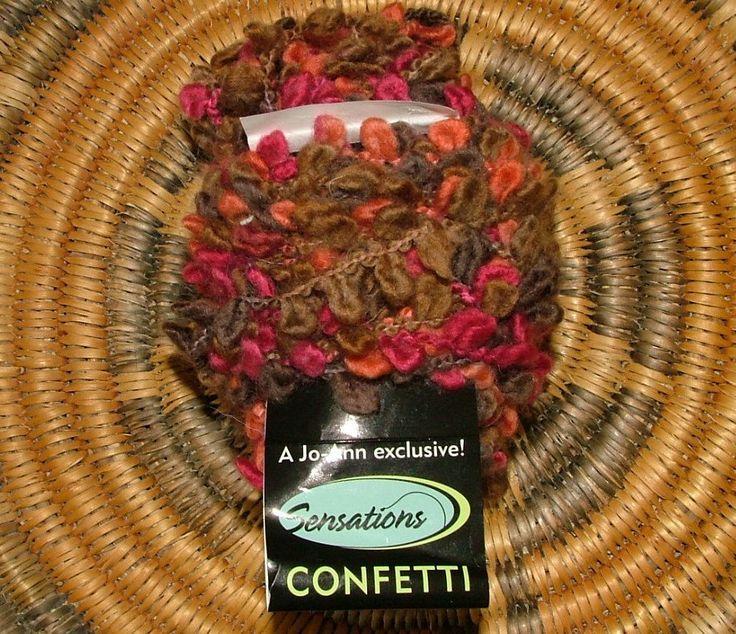 Jo-Ann Sensations Confetti Color No 599 Lot No 331 Made in Turkey Berry Confetti Crochet Knit by 3CsTwistedStitchers on Etsy